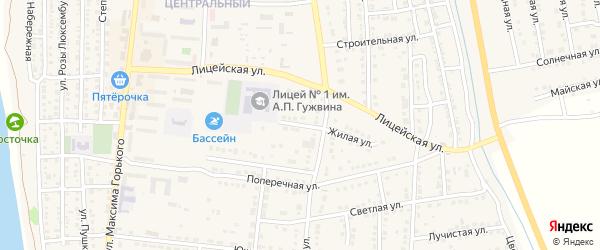Лицейский переулок на карте Камызяка с номерами домов
