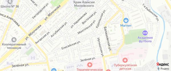 Печерская улица на карте Астрахани с номерами домов