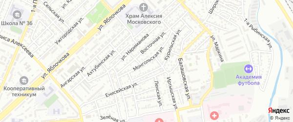 Монгольская улица на карте Астрахани с номерами домов