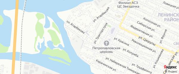 Причальный переулок на карте Астрахани с номерами домов
