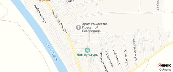 Заводская улица на карте поселка Кирпичного Завода N1 с номерами домов