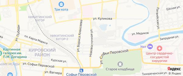 ГСК N36 на карте Зеленгинская 3-я улицы с номерами домов