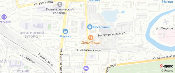 Зеленгинская 3-я улица на карте Астрахани с номерами домов