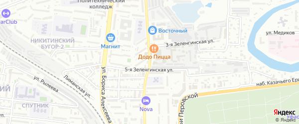 Нововосточная улица на карте Астрахани с номерами домов