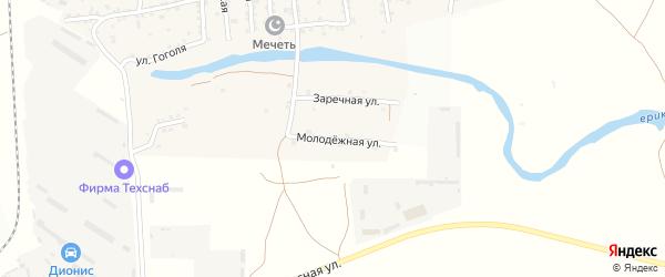 Молодежная улица на карте села Кулаковки с номерами домов