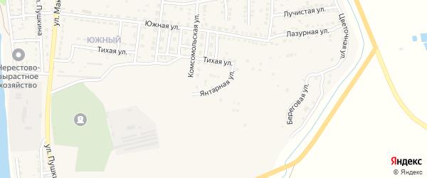 Янтарная улица на карте Камызяка с номерами домов