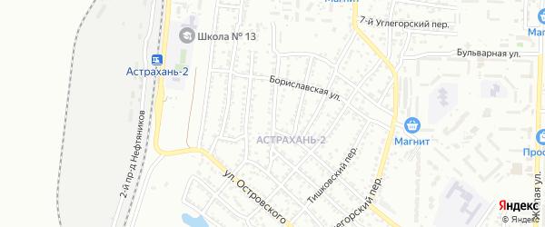 Железнодорожная 5-я улица на карте Астрахани с номерами домов