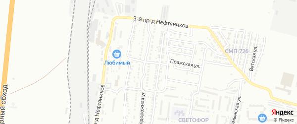 Железнодорожный 3-й переулок на карте Астрахани с номерами домов