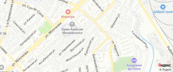 Норильский переулок на карте Астрахани с номерами домов