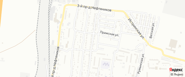 Железнодорожная 8-я улица на карте Астрахани с номерами домов