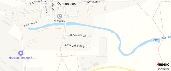 Заречная улица на карте села Кулаковки с номерами домов