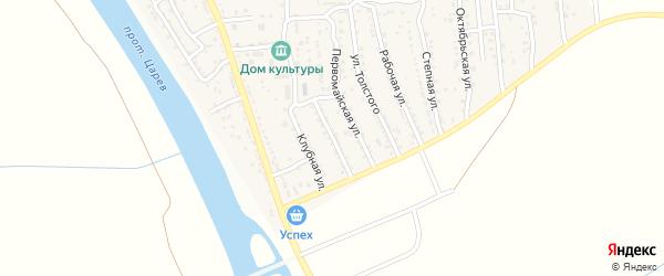 Астраханская улица на карте поселка Кирпичного Завода N1 с номерами домов