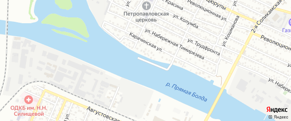 Улица Соймонова на карте Астрахани с номерами домов