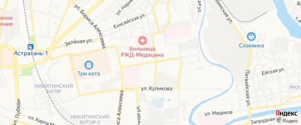 ГСК N41 на карте улицы 11 Красной Армии с номерами домов