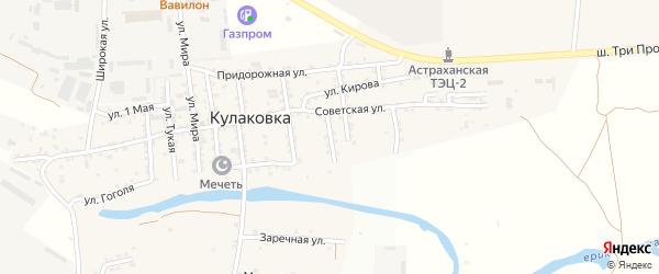 Улица Пушкина на карте села Кулаковки с номерами домов