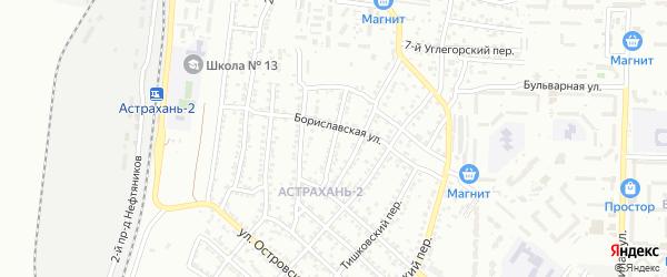 Железнодорожная 6-я улица на карте Астрахани с номерами домов
