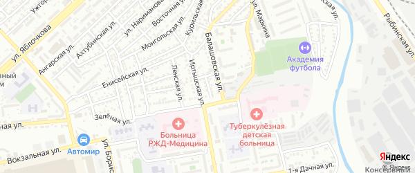 Полярный переулок на карте Астрахани с номерами домов