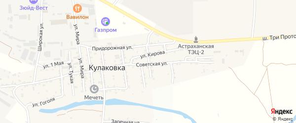 Южная улица на карте села Кулаковки с номерами домов