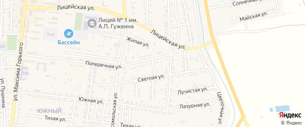 Жилая улица на карте Камызяка с номерами домов