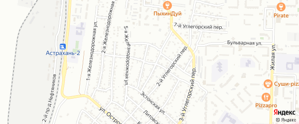 Бориславская улица на карте Астрахани с номерами домов