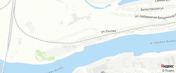 Улица Станция Болдинской пристани на карте Астрахани с номерами домов