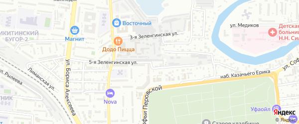 Зеленгинская 5-я улица на карте Астрахани с номерами домов