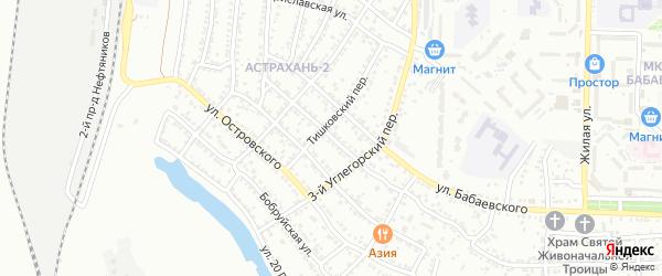 Литовская улица на карте Астрахани с номерами домов