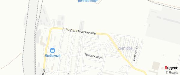 Улица Серафимовича на карте Астрахани с номерами домов
