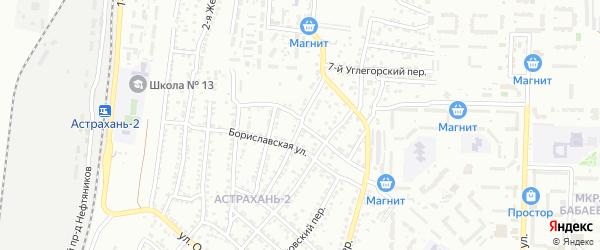 Железнодорожная 7-я улица на карте Астрахани с номерами домов