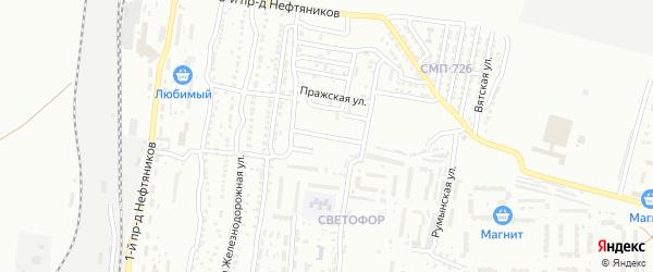 Профсоюзная улица на карте Астрахани с номерами домов