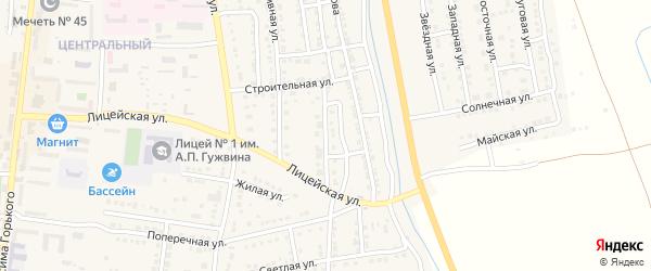 Огородная улица на карте Камызяка с номерами домов