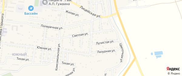 Приволжская улица на карте Камызяка с номерами домов