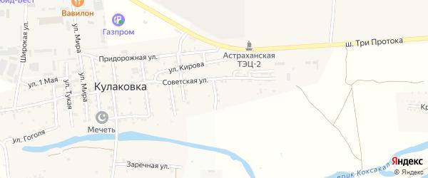 Овражная улица на карте села Кулаковки с номерами домов
