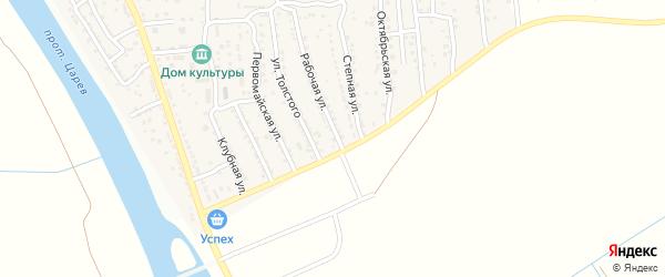 Рабочая улица на карте поселка Кирпичного Завода N1 с номерами домов