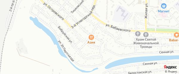 Углегорский 5-й переулок на карте Астрахани с номерами домов