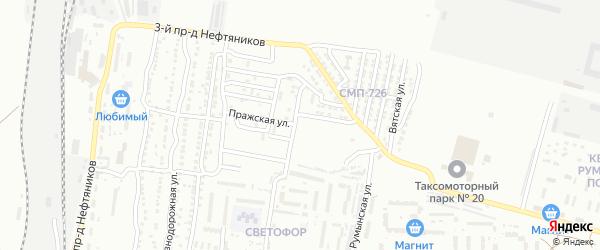 Пражская улица на карте Астрахани с номерами домов