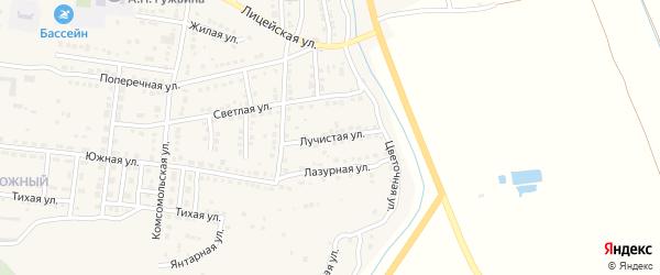 Лучистая улица на карте Камызяка с номерами домов