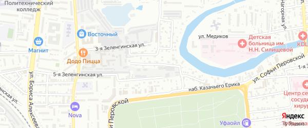 Зеленгинская 6-я улица на карте Астрахани с номерами домов