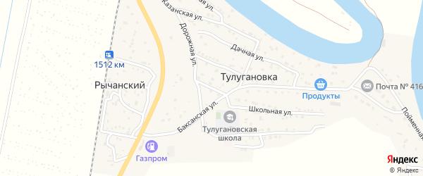 Южная улица на карте села Тулугановки с номерами домов