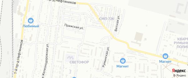 Кубинская улица на карте Астрахани с номерами домов