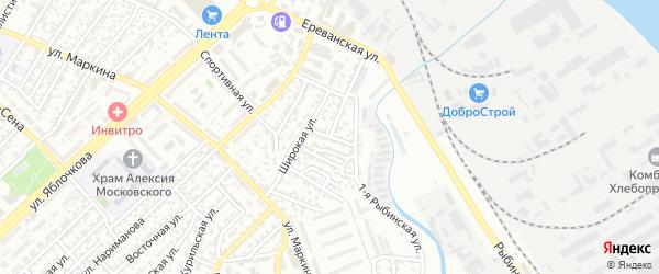 Елецкая улица на карте Астрахани с номерами домов