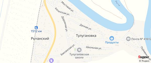 Луговая улица на карте села Тулугановки с номерами домов