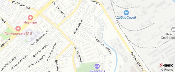 Краснокутская улица на карте Астрахани с номерами домов