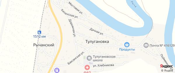 Вокзальный 3-й переулок на карте Рычанского поселка с номерами домов