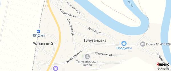 Вокзальный 1-й переулок на карте Рычанского поселка с номерами домов