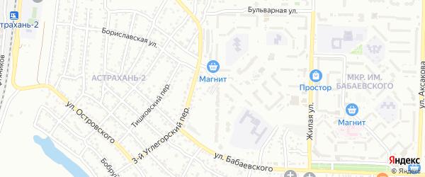 Углегорский 6-й переулок на карте Астрахани с номерами домов