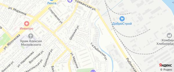Пермская улица на карте Астрахани с номерами домов