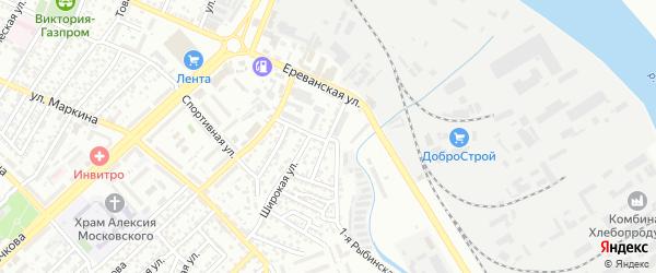 Рыбинская 3-я улица на карте Астрахани с номерами домов