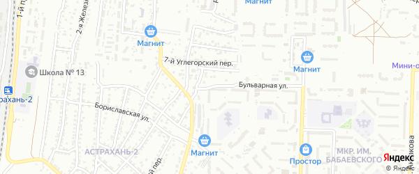 Углегорский 12-й переулок на карте Астрахани с номерами домов