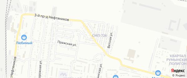 Истринская улица на карте Астрахани с номерами домов